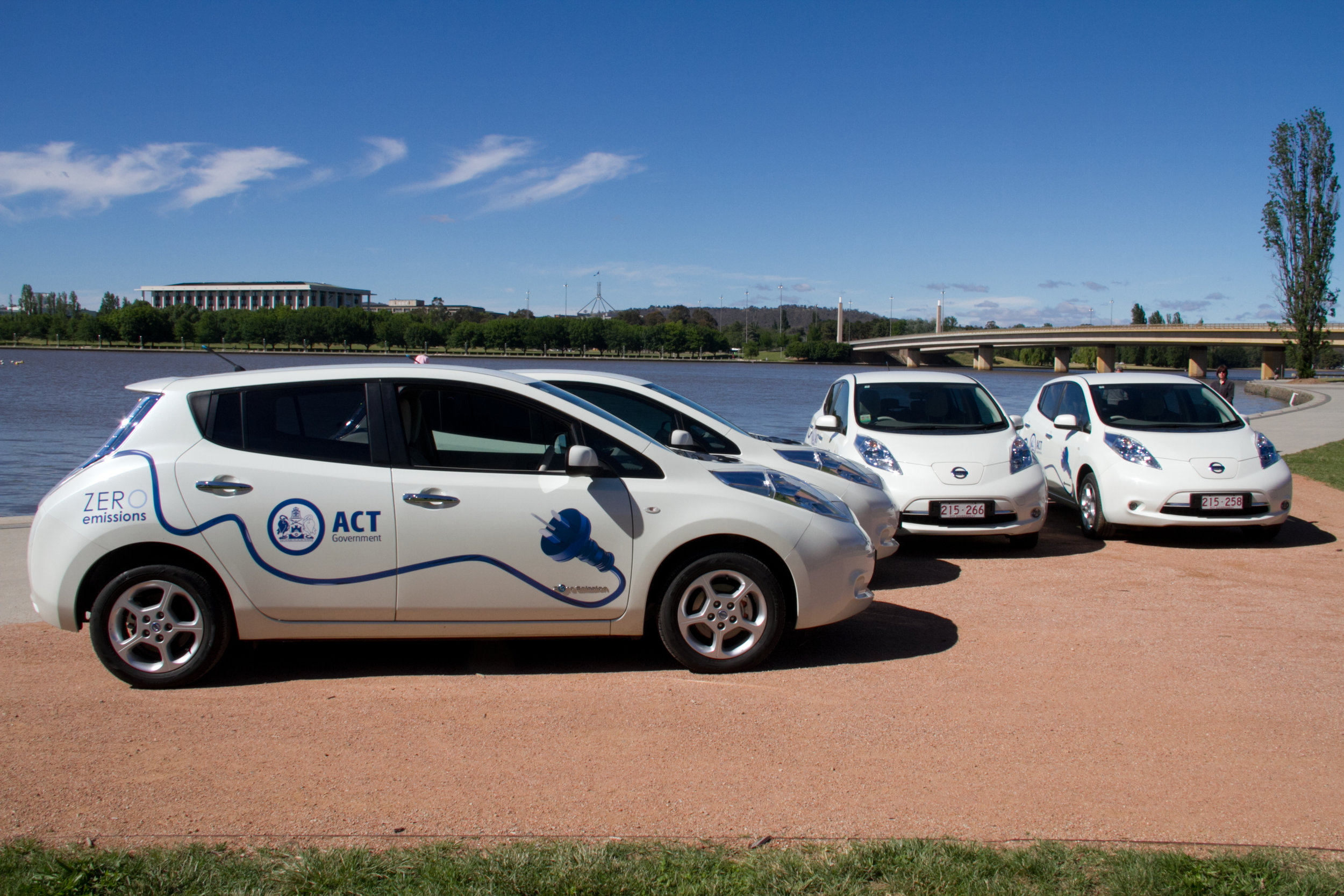 The ACT Government's electric vehicle fleet is set to grow in the coming years.  Photo credit: ACT Government.