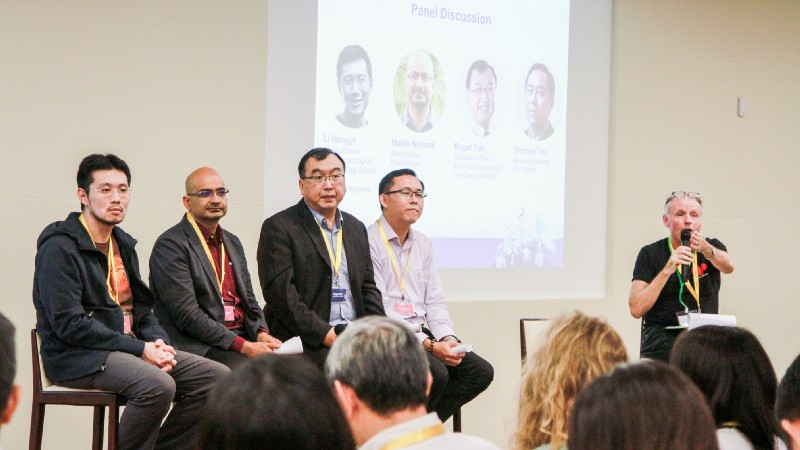 Panel Discussion at the Pre-Challenge Workshop (from left to right): Li Hongyi, Maish Nichani, Roger Tan, Thomas Yeo, Adam Lyle