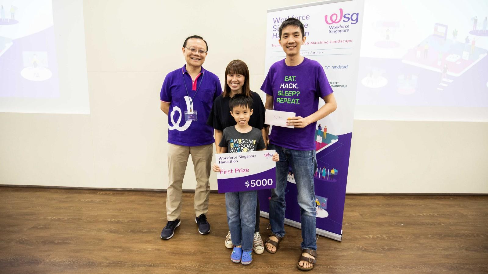 First Prize Winner,  Team TBG