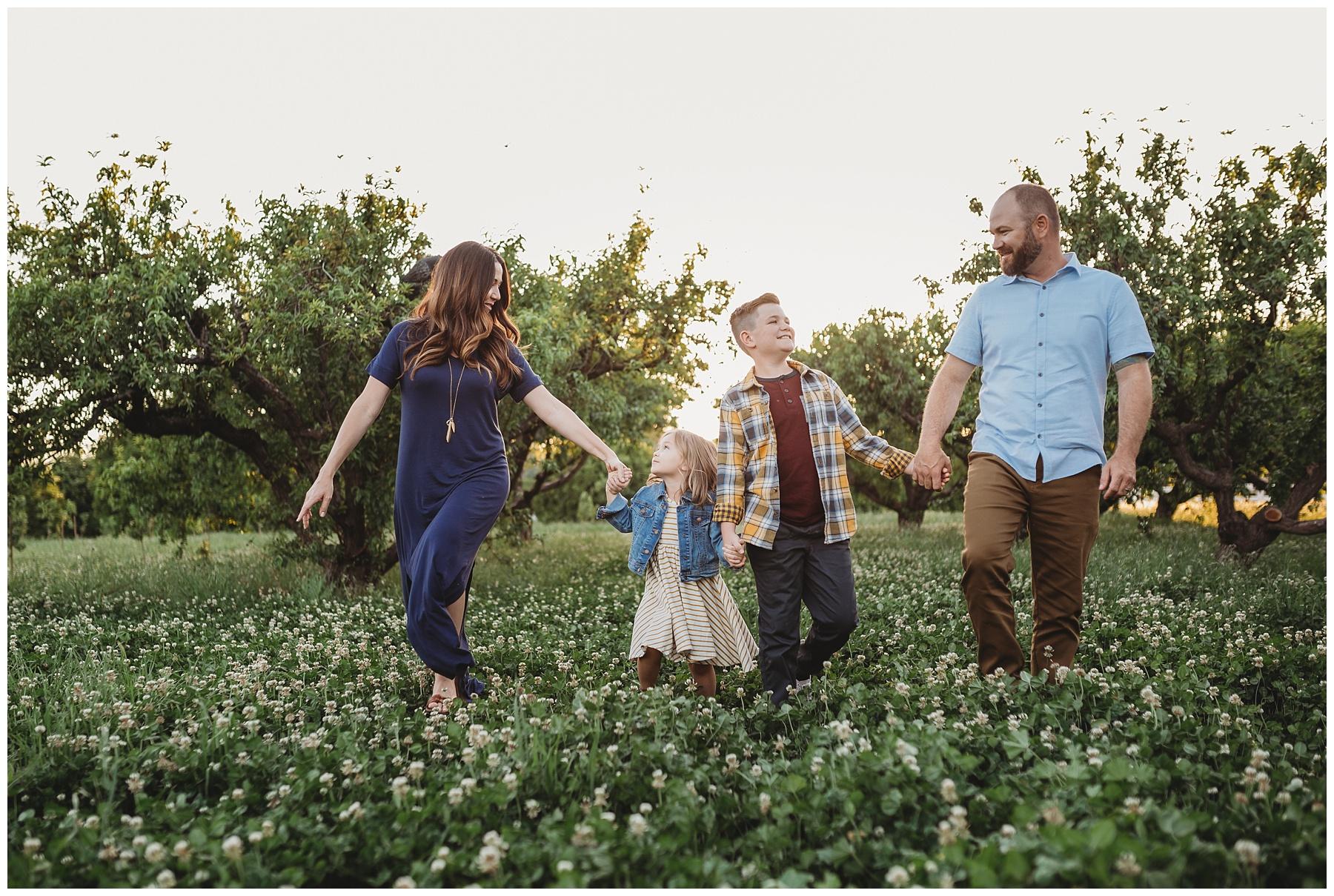 Mesa Arizona Family Photo Agritopia Orchard