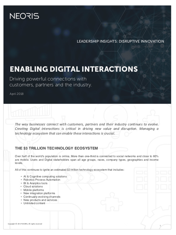 Enabling Digital Interactions  Understand how to build an end-to-end customer journey strategy that goes beyond a front-end customer experience.