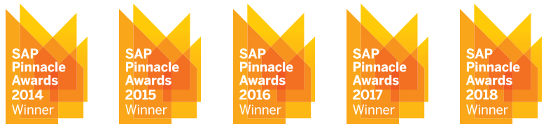 NEORIS SAP Pinnacle Award Winner 2014-2018