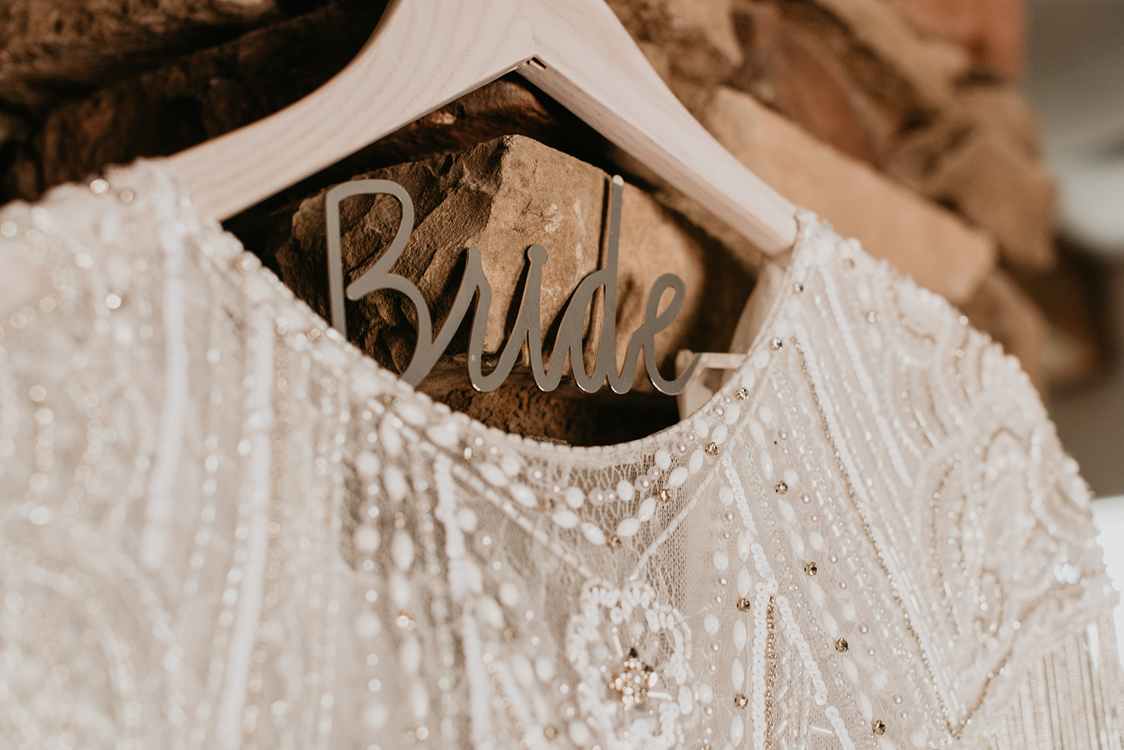 Backyard Las Vegas Wedding - Bride Hanger