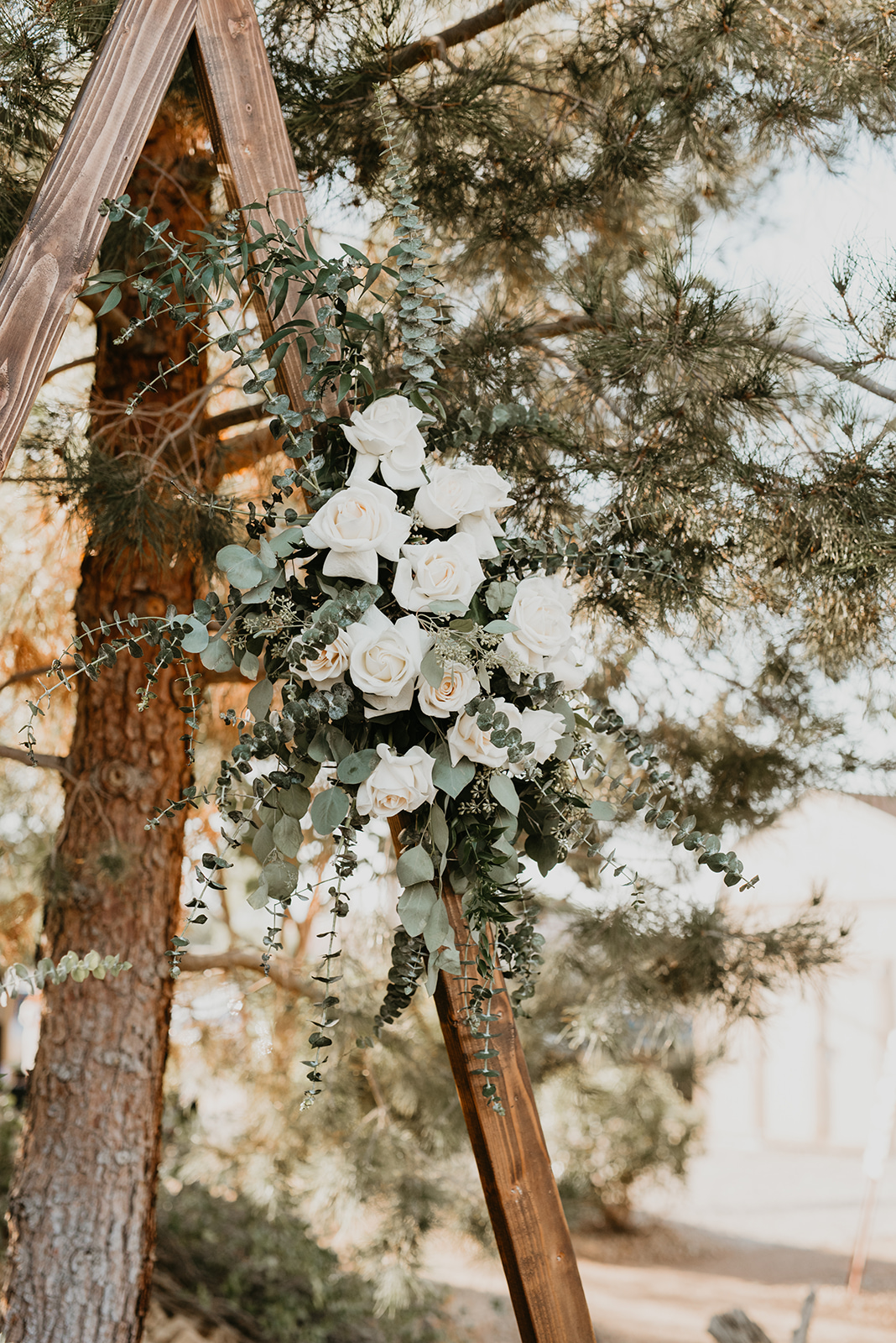 Backyard Las Vegas Wedding - Alter Flowers