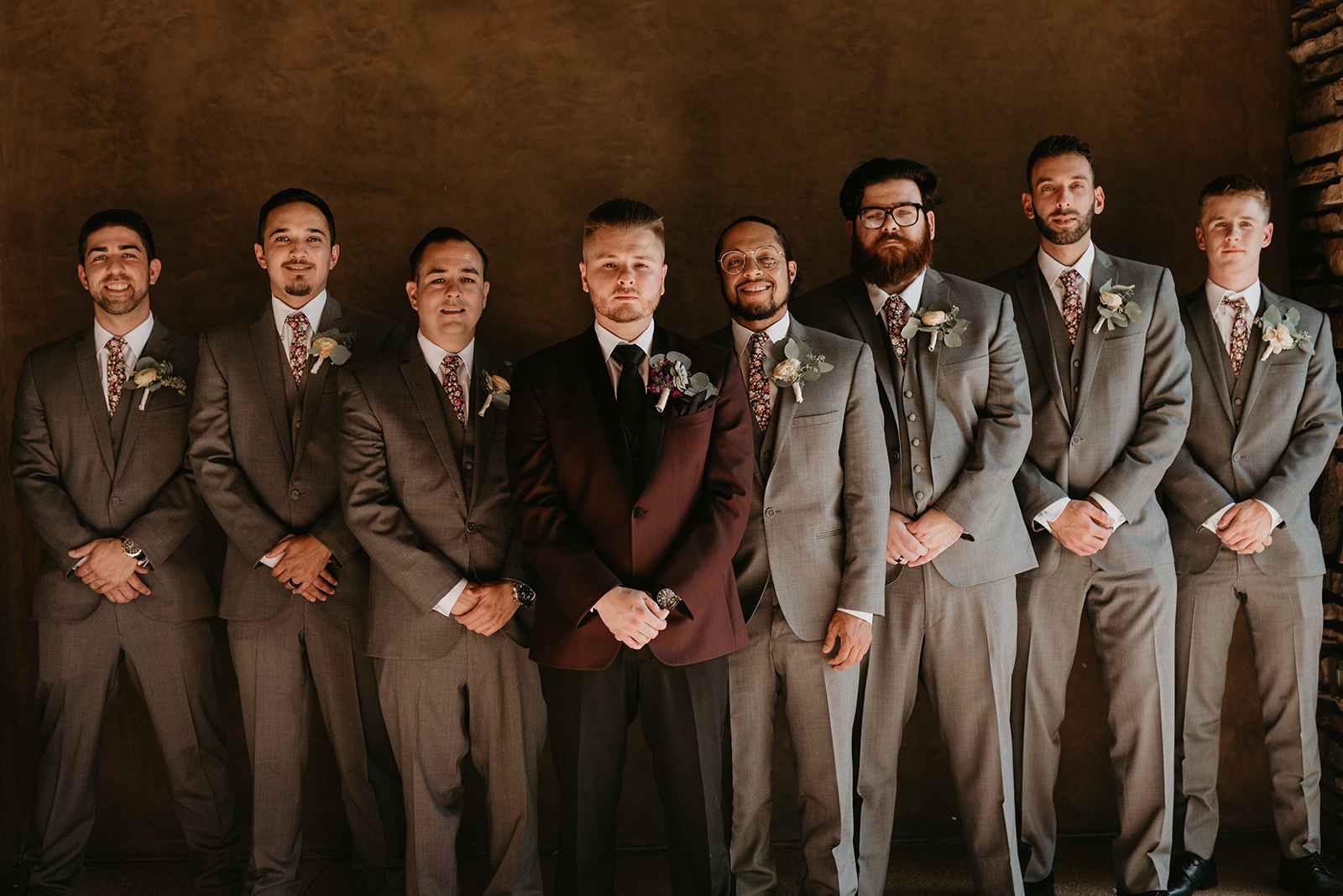 Backyard Las Vegas Wedding - Groomsmen