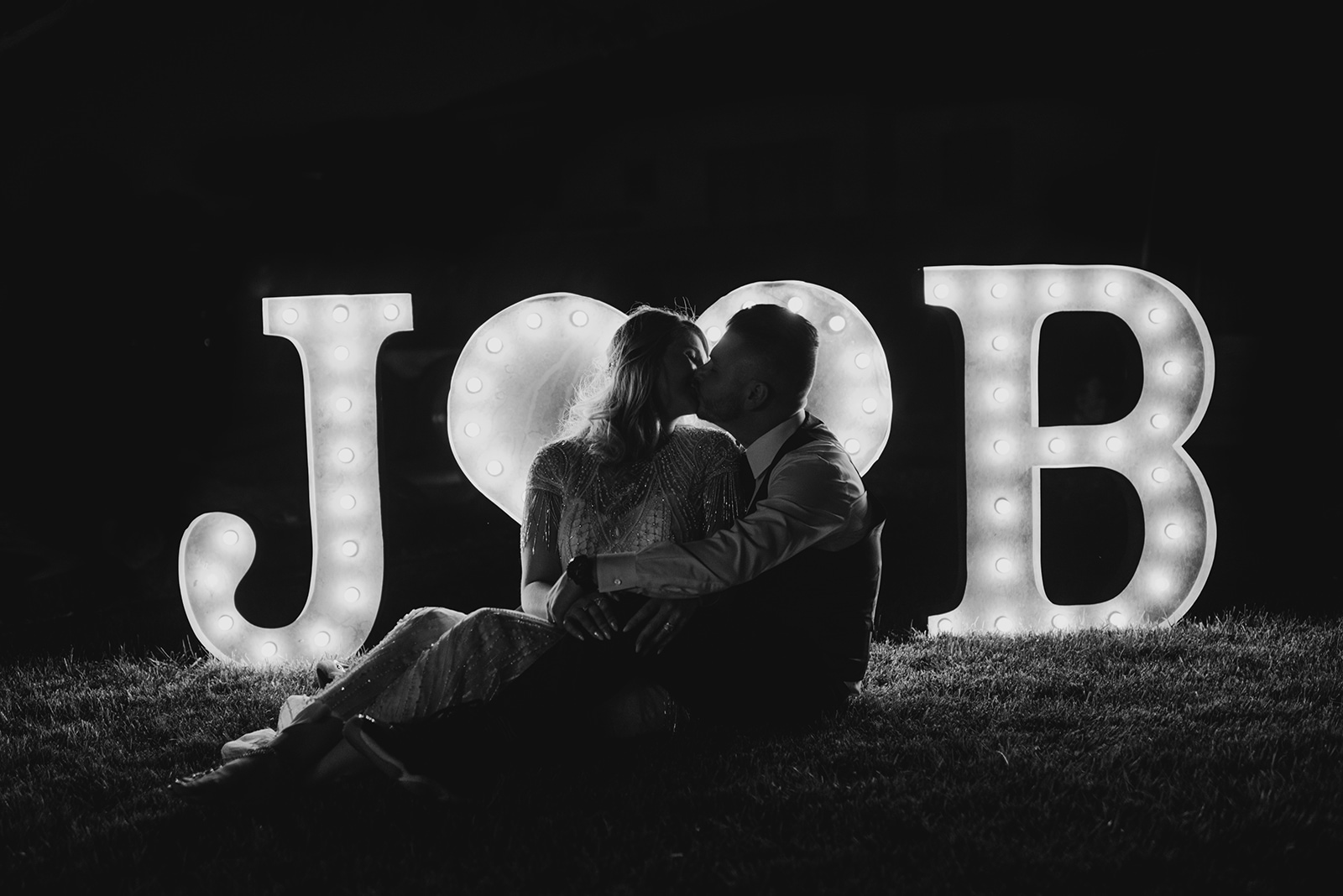 Backyard Las Vegas Wedding - Bride and Groom Sign