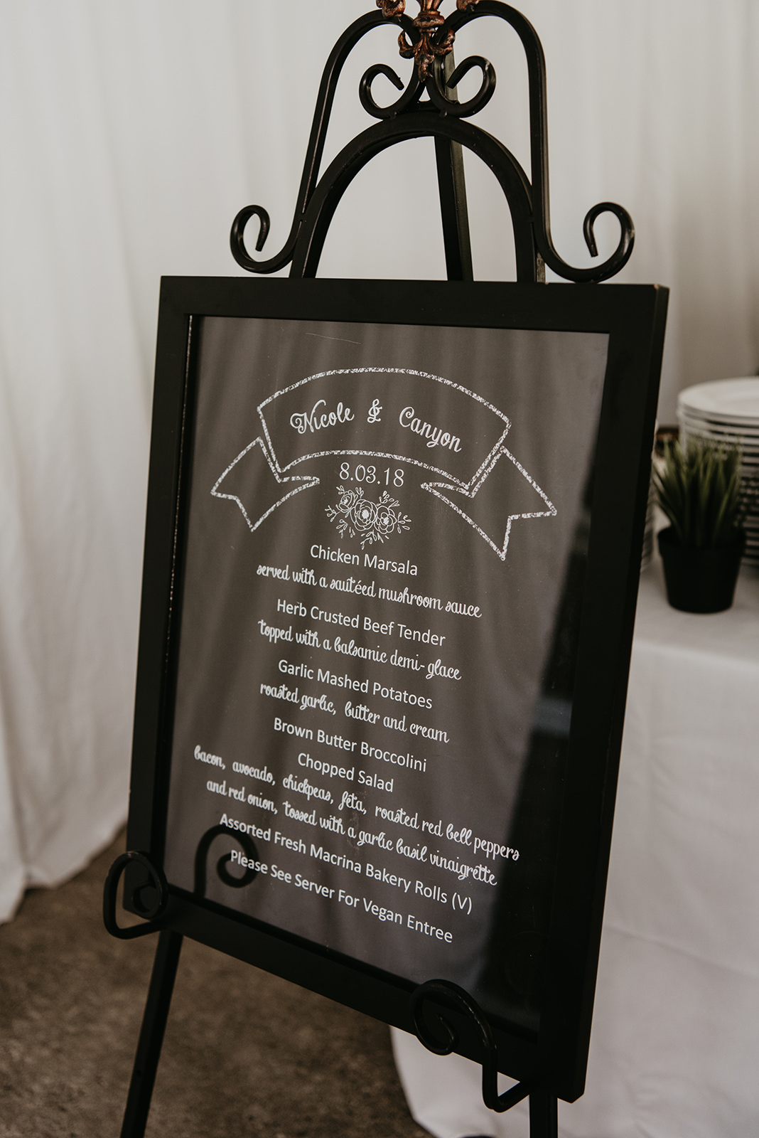 Thompson Wedding in Seattle, Washington - Reception Sign