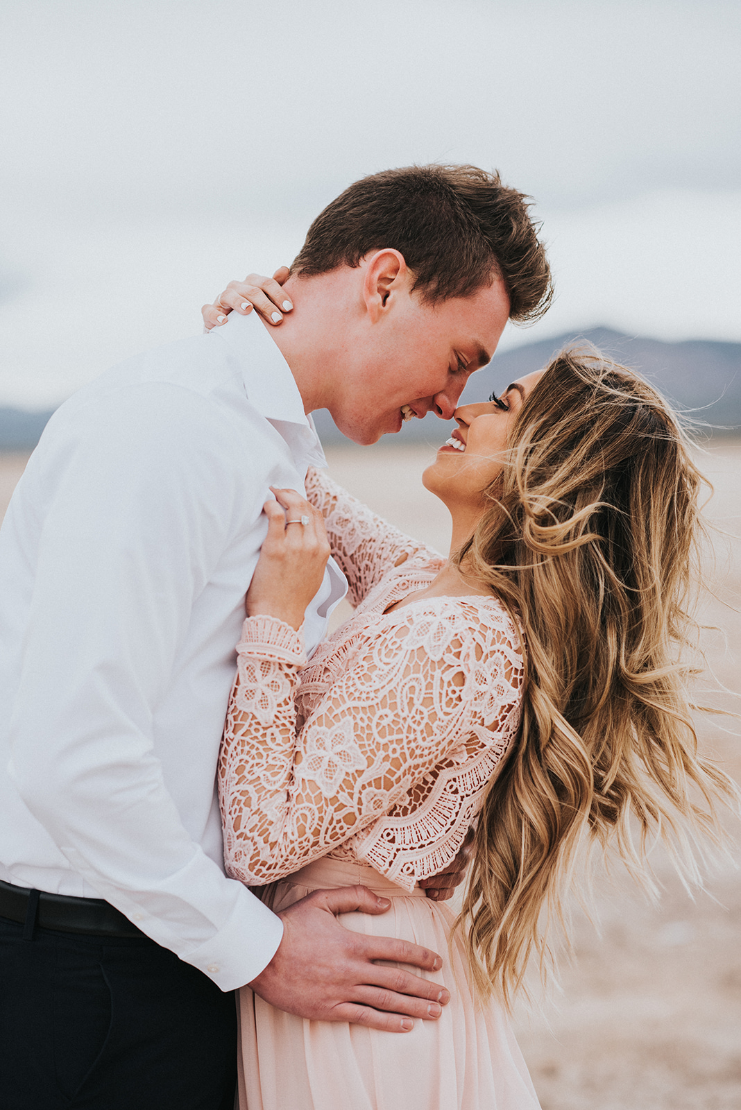 Spencer + Macaily Engagement Shoot - Dry Lake Bed Las Vegas, NV