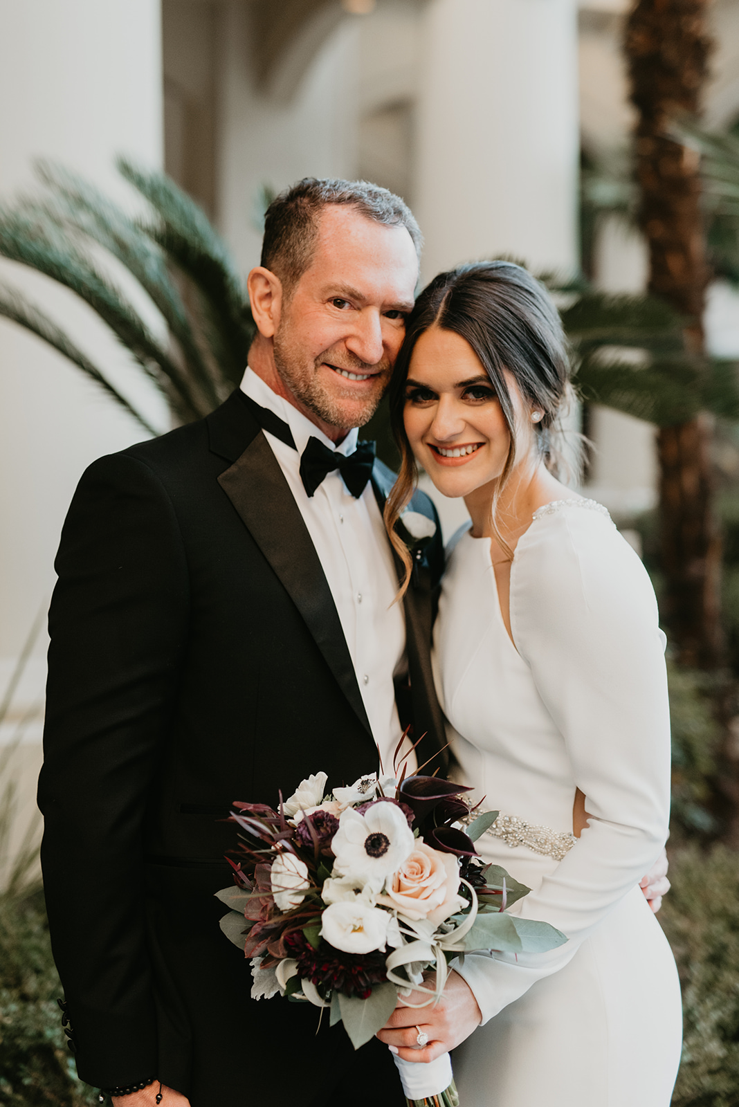 Malm Wedding in Las Vegas, NV - Bride and Dad