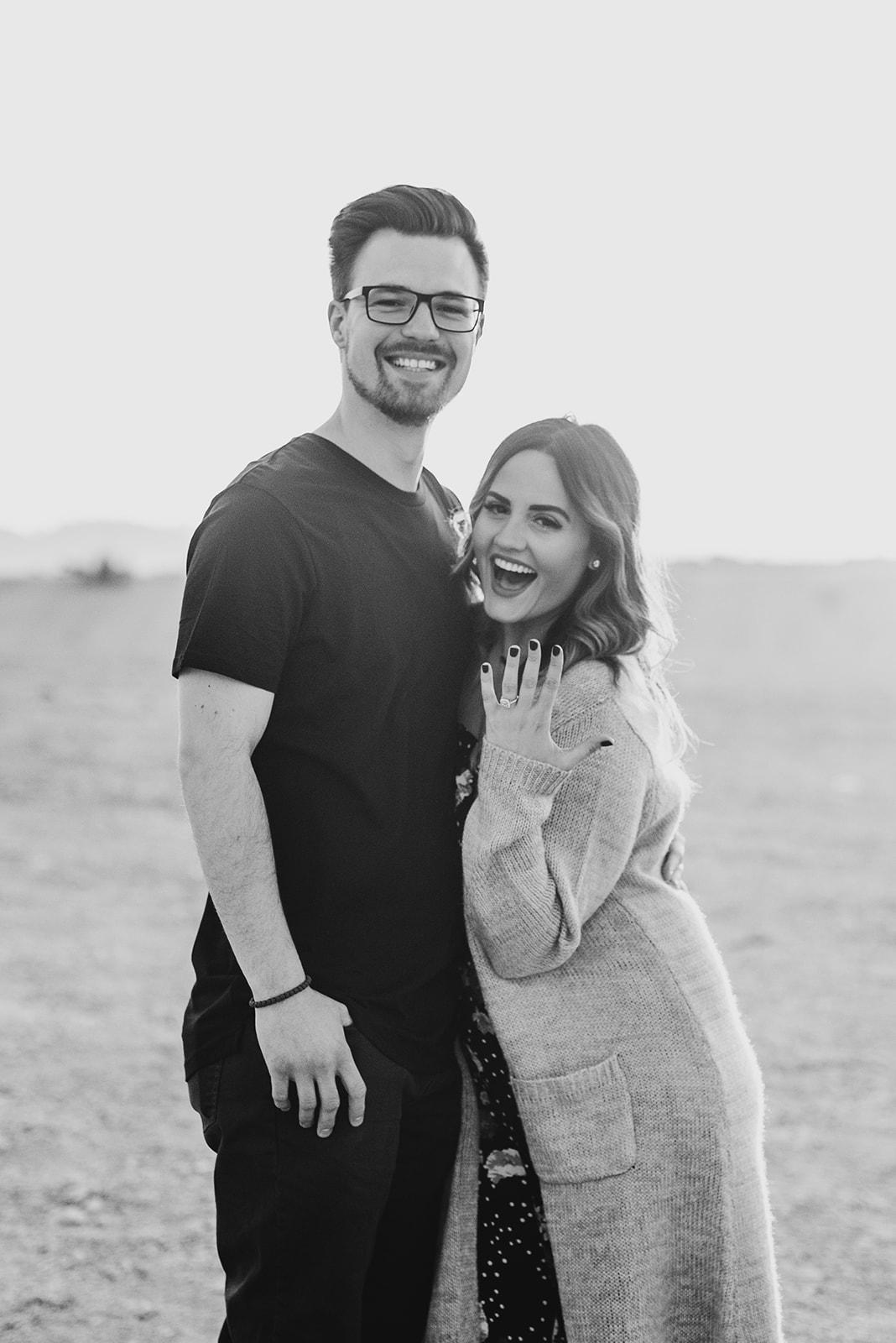Engagement Shoot In Las Vegas Desert