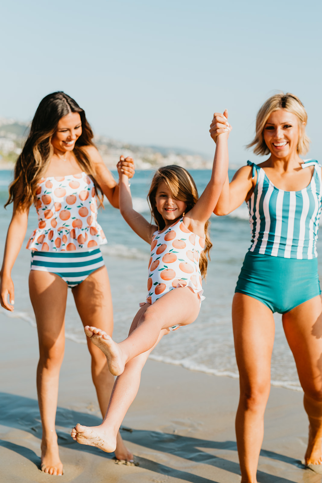 Pink Desert swimwear branding shoot in Laguna Beach