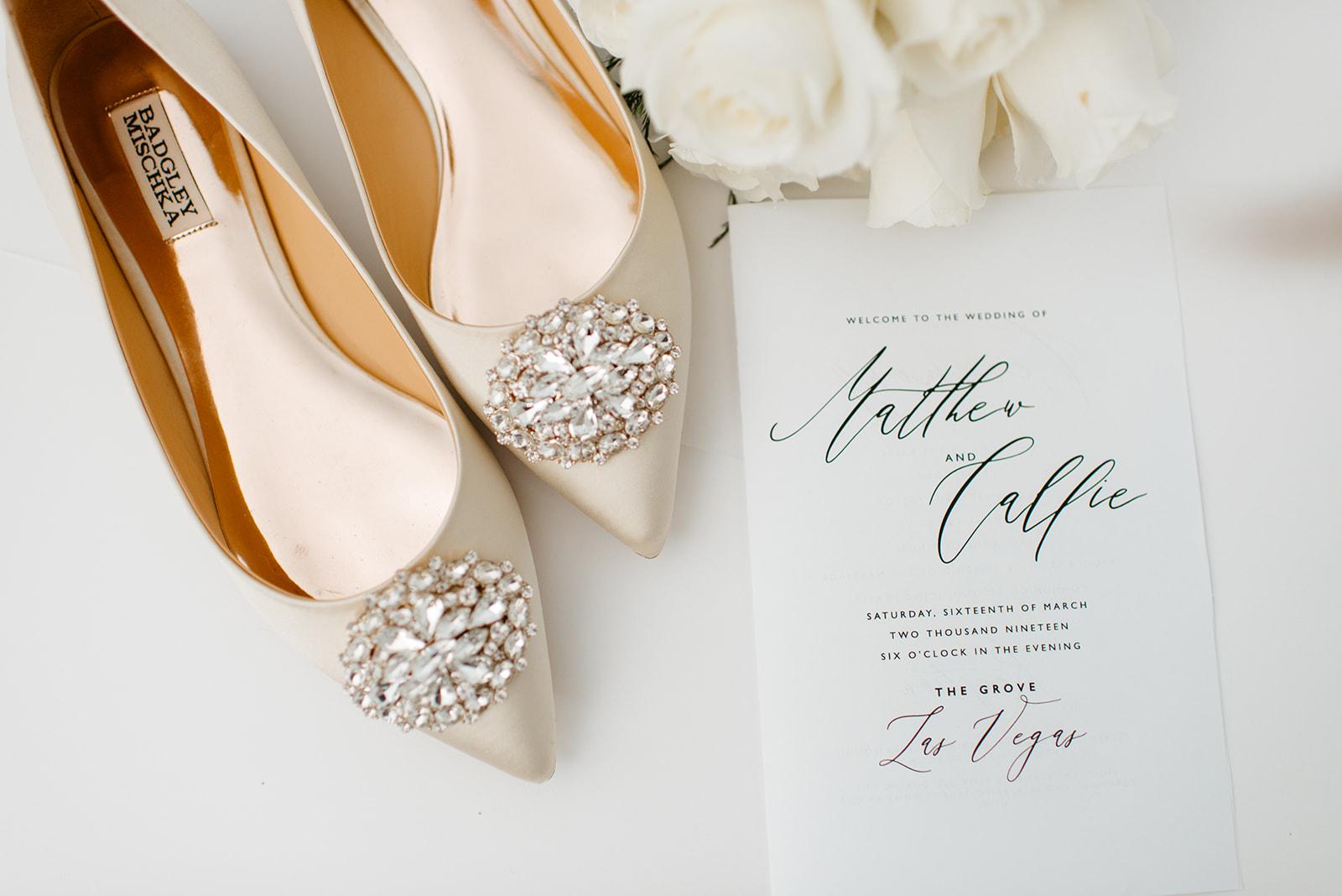 Kinzer Wedding - The Grove, Las Vegas #BrideShoes