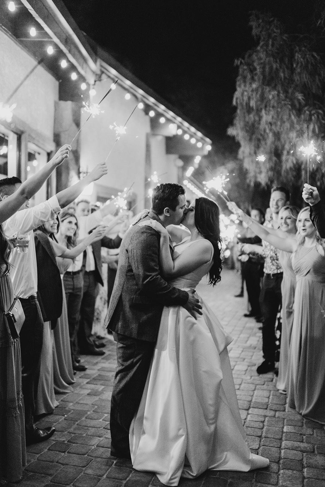 Kinzer Wedding - The Grove, Las Vegas #sparklerexit