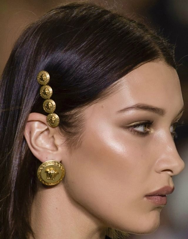 hair ornaments - An embellished hair accessory, specifically glittery, is the perfect final touch on creating a glam holiday look. Be the most festive individual in the room by adding a barrette, clip, bejeweled bobby pin, dazzling crown, etc, to any style you prefer.