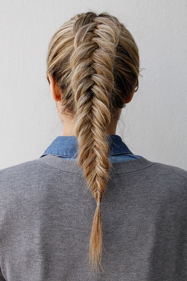 3. Braids - Too busy to wash and blow out your long locks before your date? Fishtail braiding works wonders for our dry shampoo-loving clients!