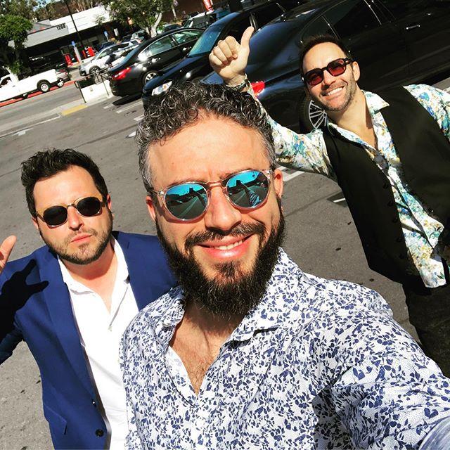 Guys going to a party!! @backtolyla #backtolylathemovie #wrapparty #wrapparty #marinadelrey #isaacgallego #pelotazo