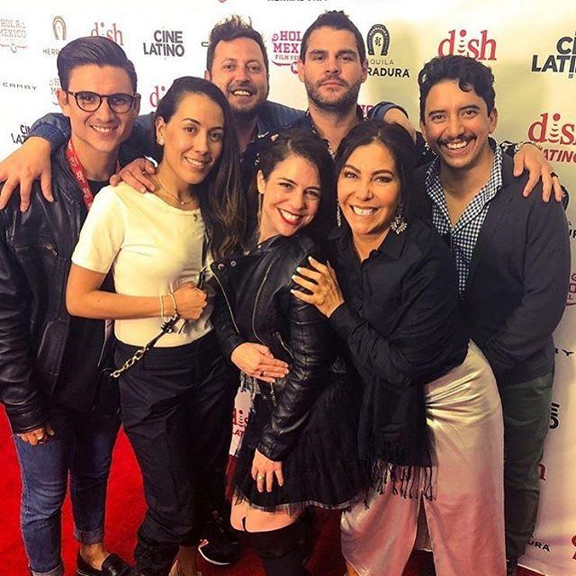 Last year we had so much fun at @holamexicoff 🎥🎬🎉🍾 w @marcodelao @miss.dynamita @maraescalante3 @sol_palaz  @elgussanchezm @carolinaaymerich . . . . #talentolatino #holamexicofilmfestival #friends #actors #actorslife #producer #losangeles #mexico #funnights #pelotazo