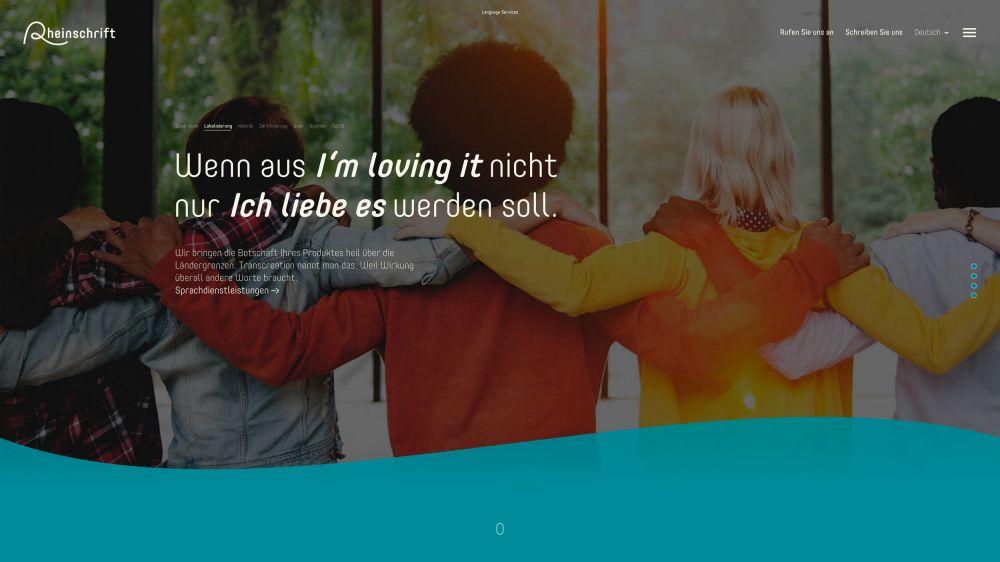 Projektbeispiel   Rheinschrift Übersetzungsbüro — Konzept, Design, Text und Programmierung