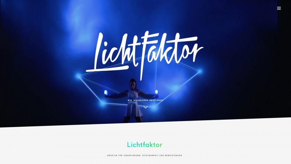Projektbeispiel   Lichtfaktor Kreativagentur — Website (Design und Programmierung)