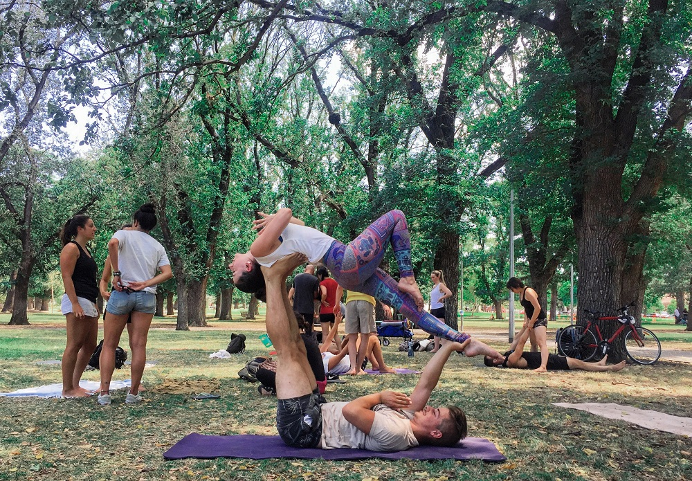 - Want to balance your friends on your feet and get upside down as you learn some fun acroyoga moves?! This fun and friendly acroyoga class is suitable for all levels + perfect for beginners!*no partner or previous experience necessary*