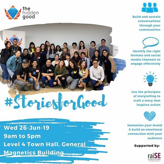 Our June #storiesforgood workshop is next Wednesday! Have you signed up already? 💻 We are inviting you to join us and find out how to leverage the art of storytelling to build brand affinity, stakeholder engagement and amplify your organisation's impact👍🏻 The Hidden Good team and other industry experts will share the importance of storytelling, the 5C story mountain and how to use social media for better online reach and engagement! 💻 Link in bio! Sign up now to save your spots🥰  #thehiddengood #storiesforgood #socialimpact #capacitybuilding #storytellingqq