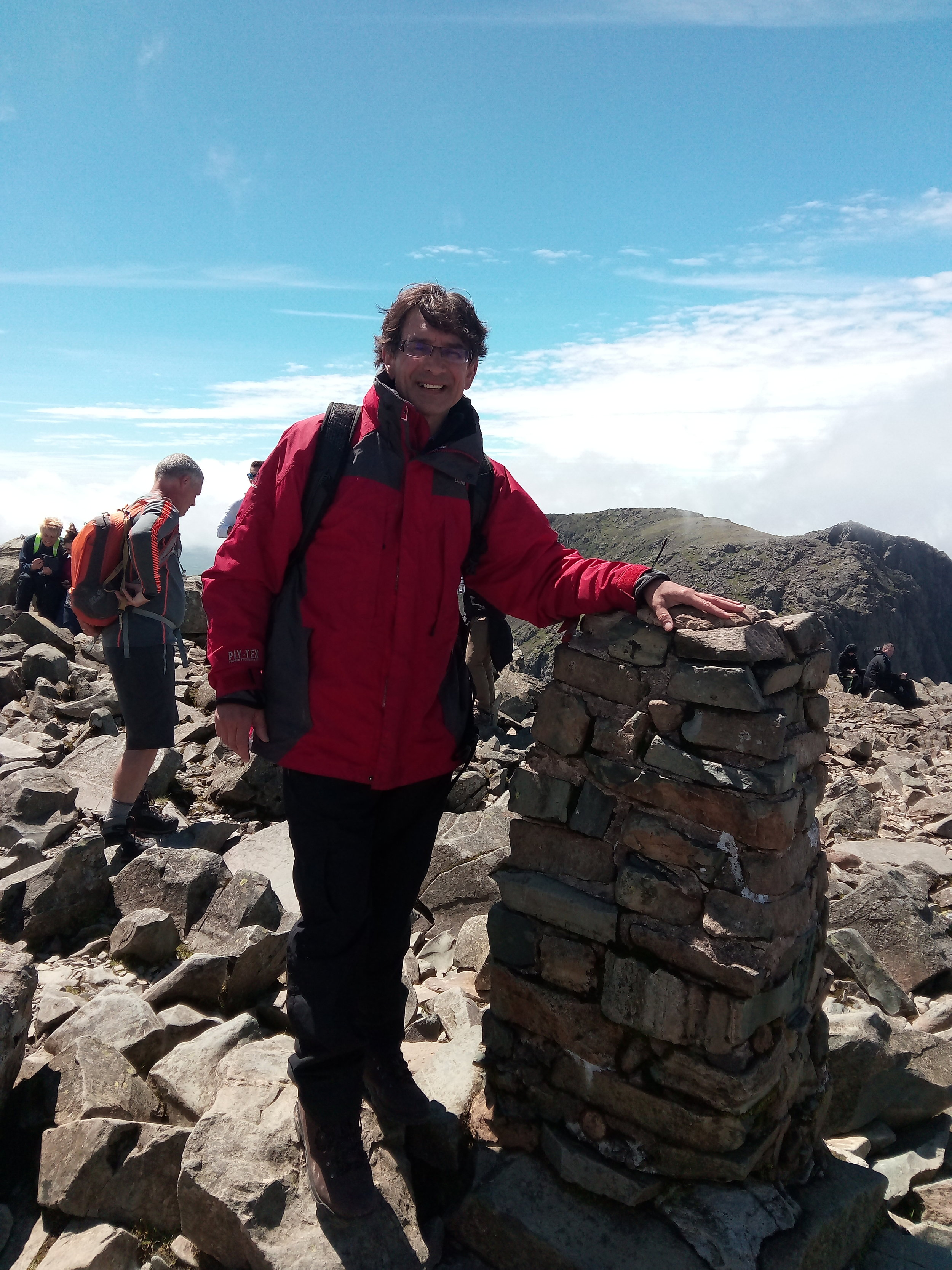 Four Tigers director Ed at Scafell Pike, which was followed by Kilimanjaro and Everest Base Camp ...