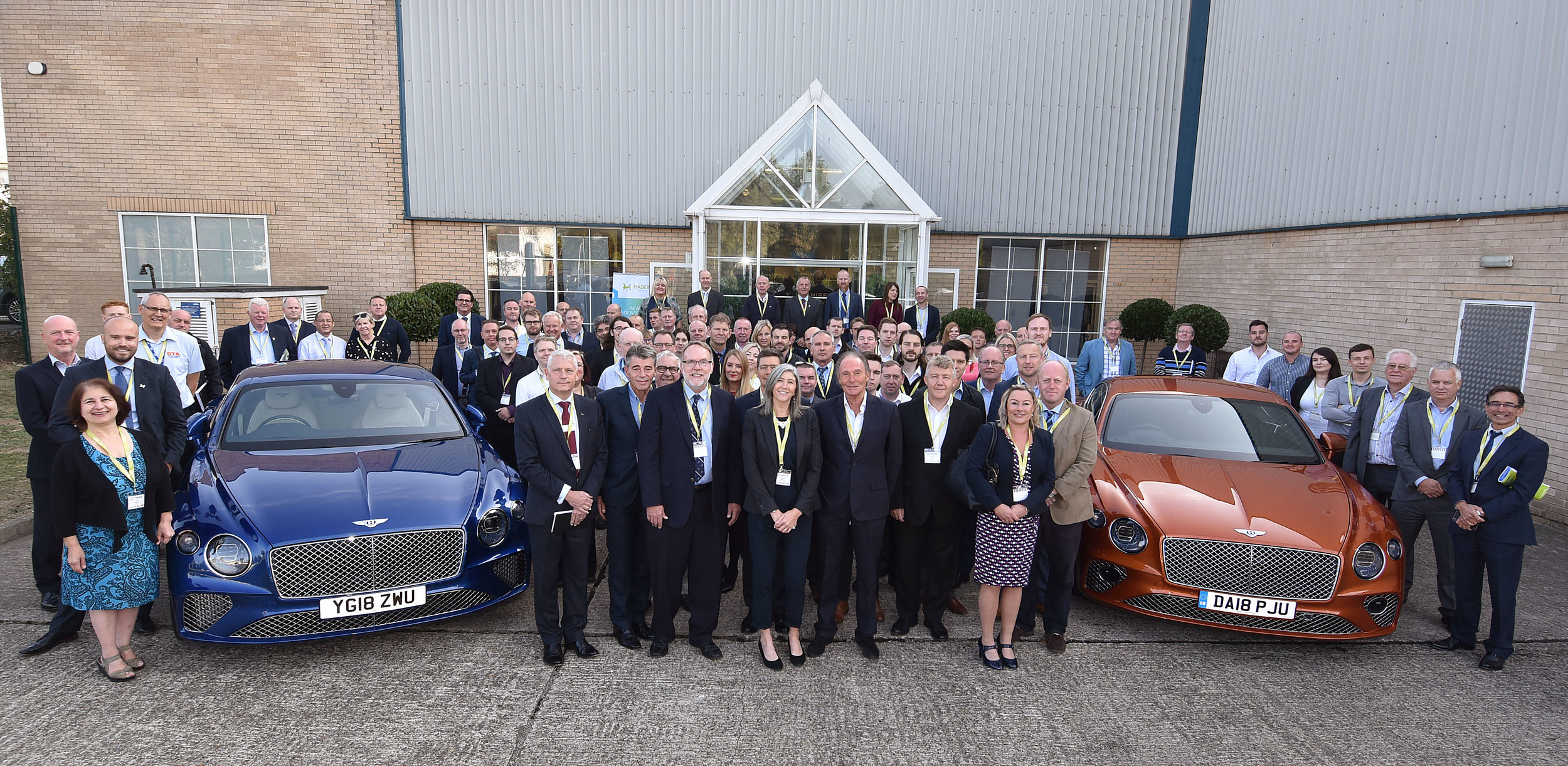 Bentley cars at Unison for a Made in Yorkshire meeting