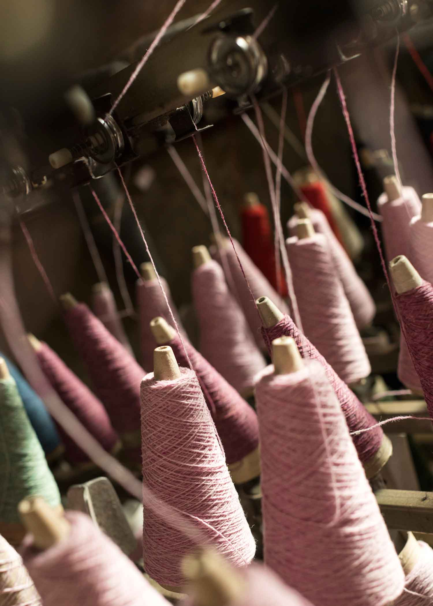 British Mills - The wools we use are spun by an English family mill that has been running since 1766. This long succession has enabled valuable knowledge to be passed down through the generations to create a product of the softest and most superior quality.The raw material is shipped not flown and comes from the Geelong area of Australia which is synonymous with fineness. Colour is an intrinsic part of our designs so our wools must be dyed but the chemicals used in this process by our spinners are less harmful to the environment than that of the bigger global companies and we prefer to use dyes that are to Global Organic Textile Standard wherever possible.