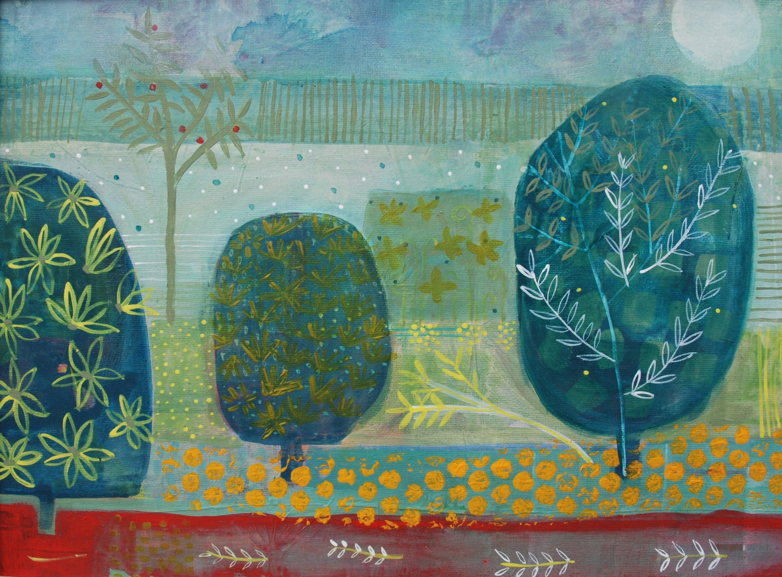 Spanish Garden ii  - acrylic on canvas - 19in x 16in.jpg