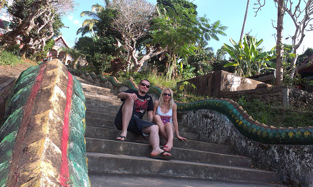 This picture was taken on one of our travels - Cambodia. Amazing place and my amazing wife.