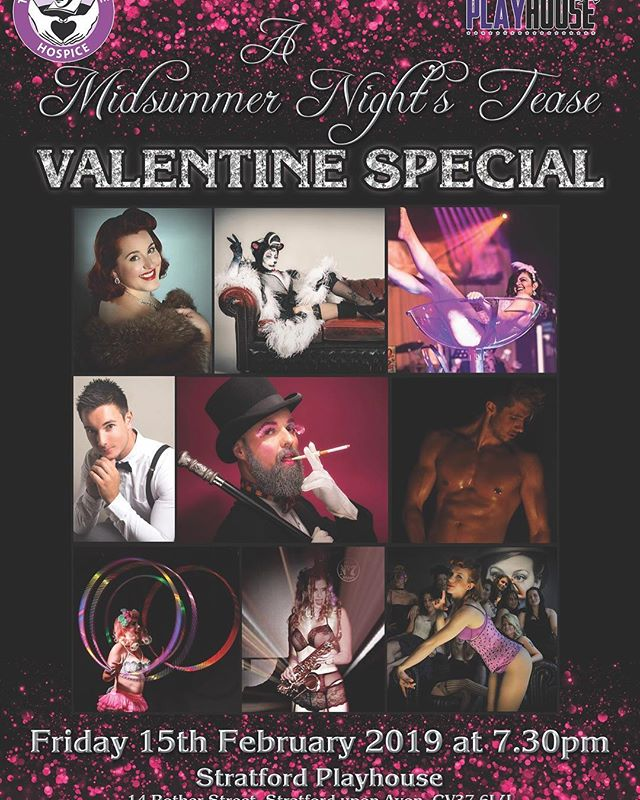 Not long to go til myself & @icecrystalproductions bring you A #midsummernightstease @stratfordplays on Friday 15th Feb!  A great night out regardless if you love or loathe #valentinesday2019  See you all there! ❤️
