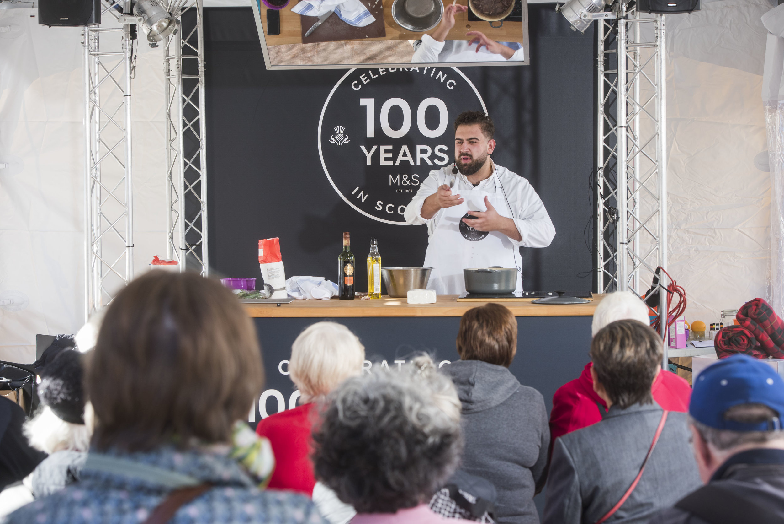 M&S Chef Gio Pia demonstrates on the M&S Stand.jpg