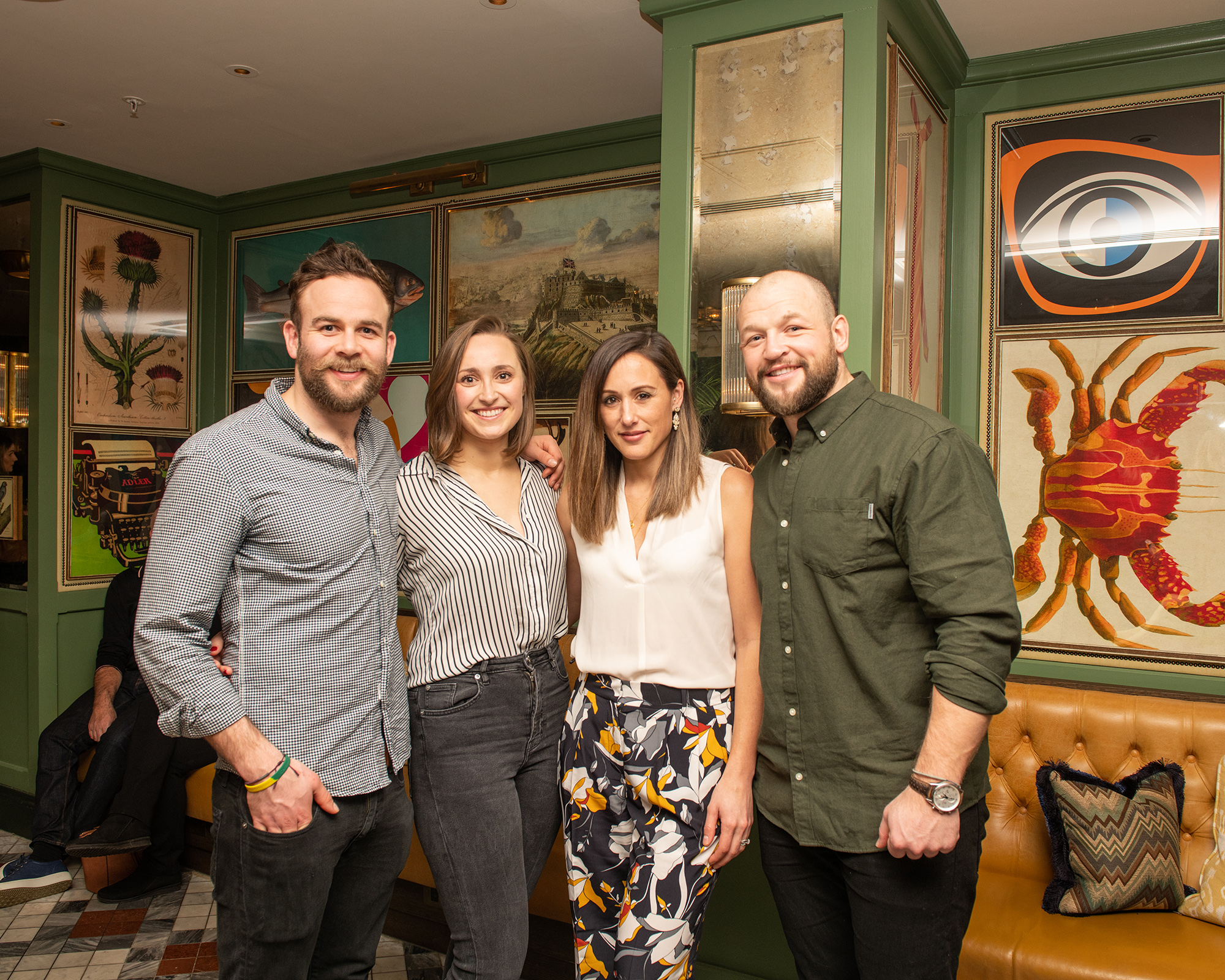 From left to right: Ruaridh Jackson (Co-founder of The Garden Shed Drinks Company), Kirstin Jackson, Maxine Grant, Ryan Grant (Co-founder of The Garden Shed Drinks Company). Taken at The Ivy on the Square.