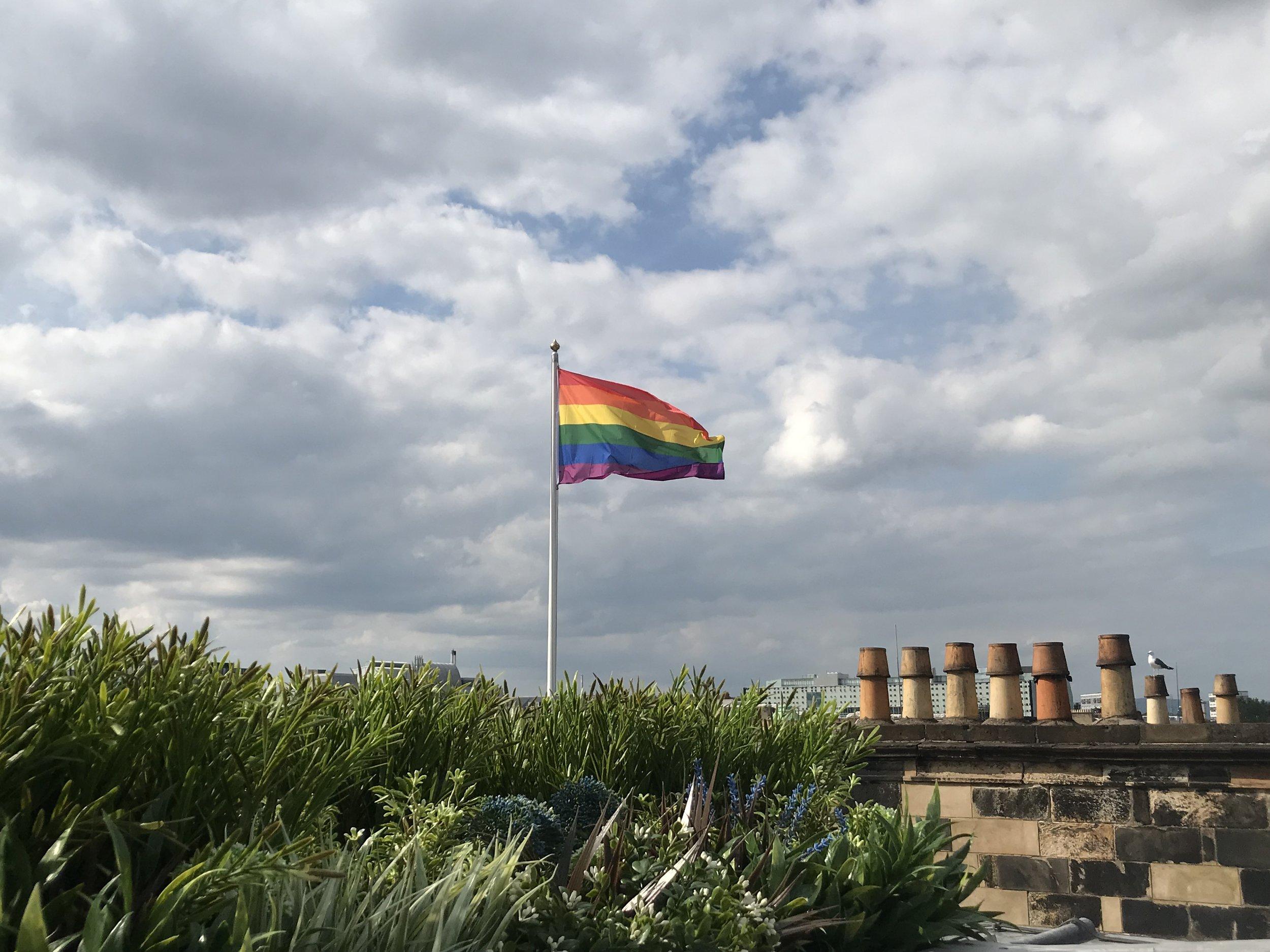 Blythswood LGBT flag.jpg