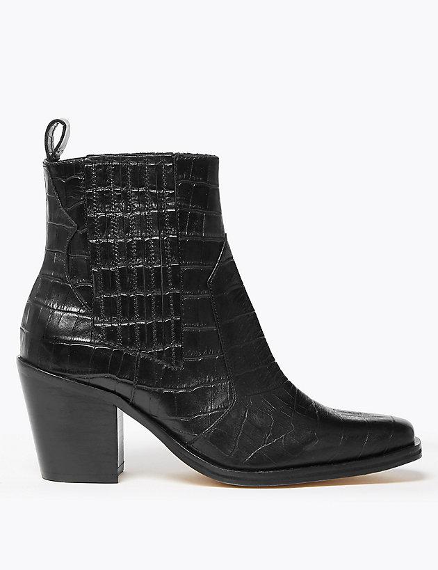 M&S Block Heel Boots £79