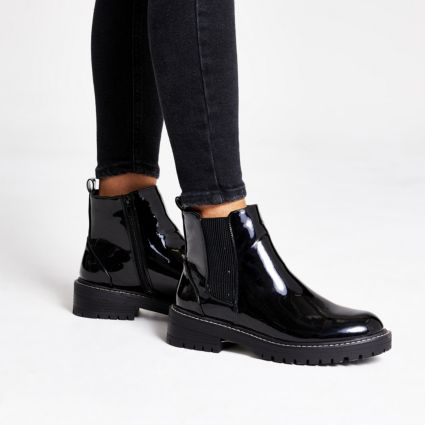 River Island Chunky Patent Boots £42