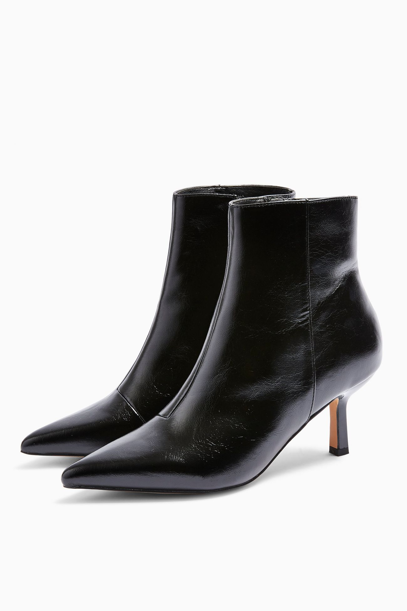 Topshop Black Point Ankle Boots £39