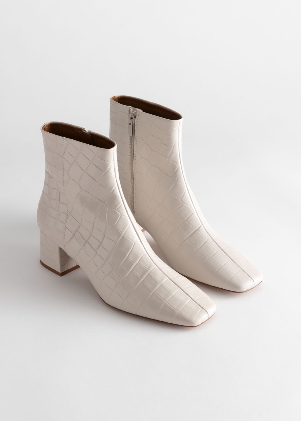 & Other Stories Square Toe Boots £135