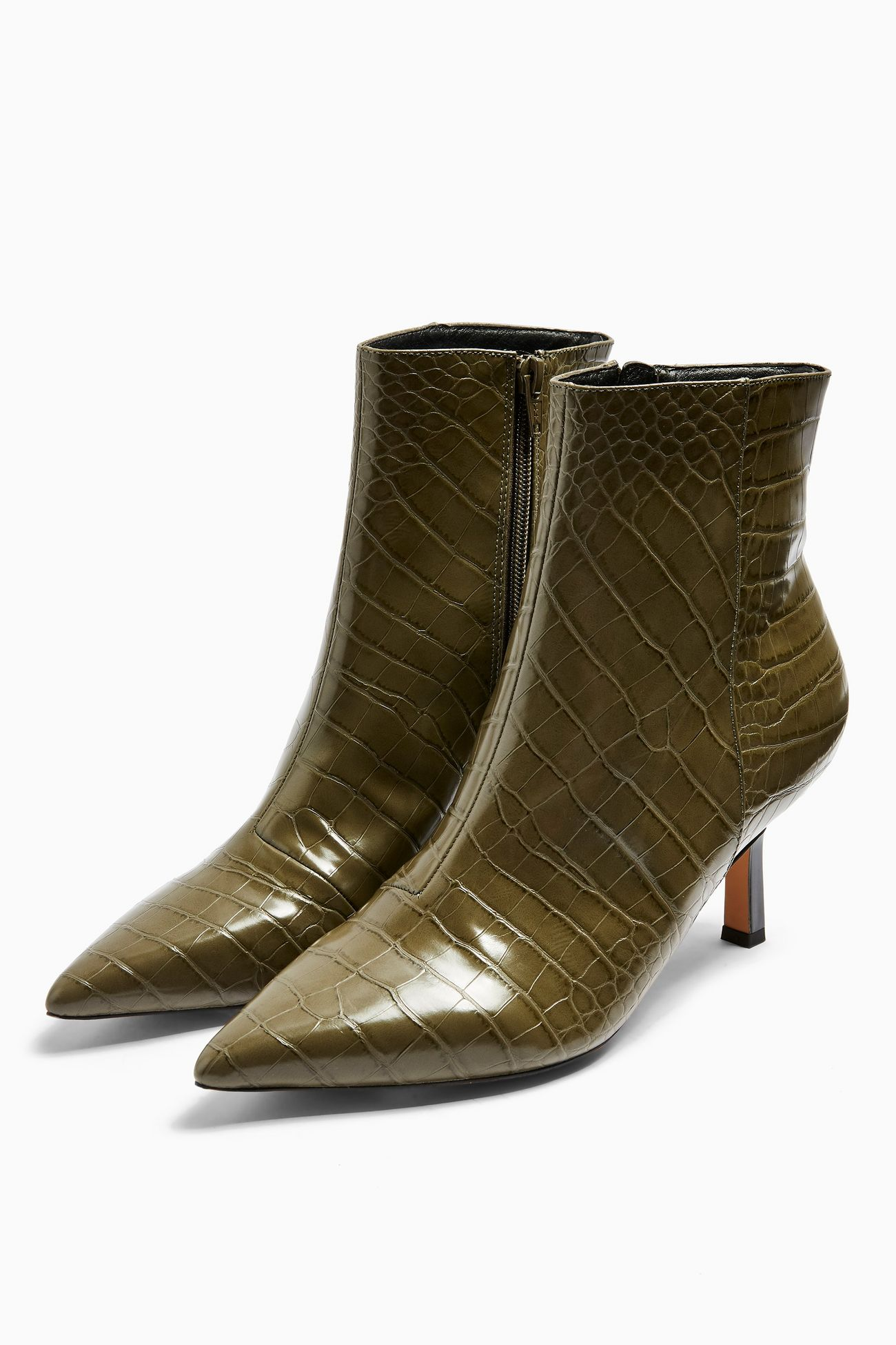 Topshop Croc Pointy Boots £39