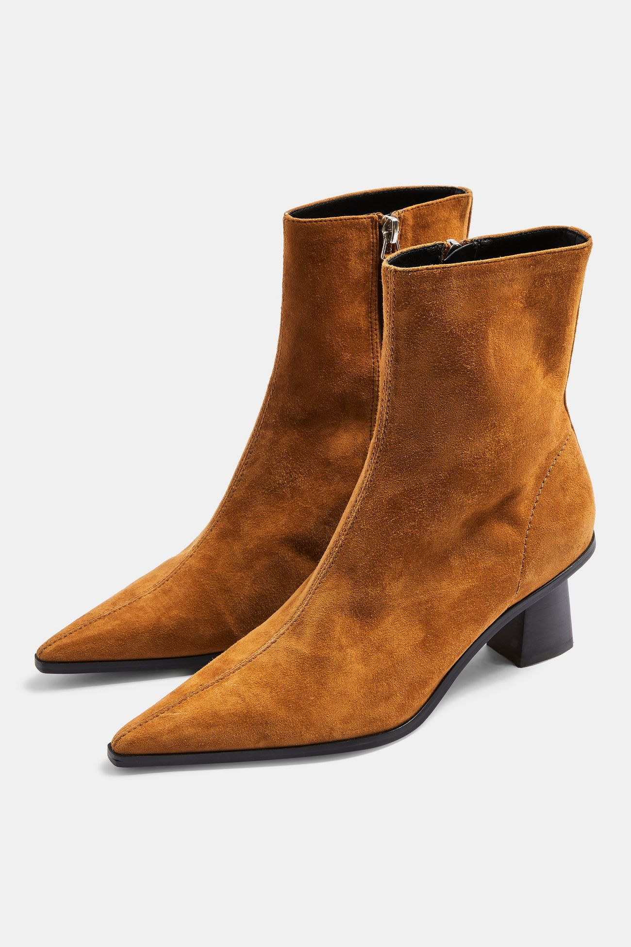 Topshop Tan Leather Boots £59