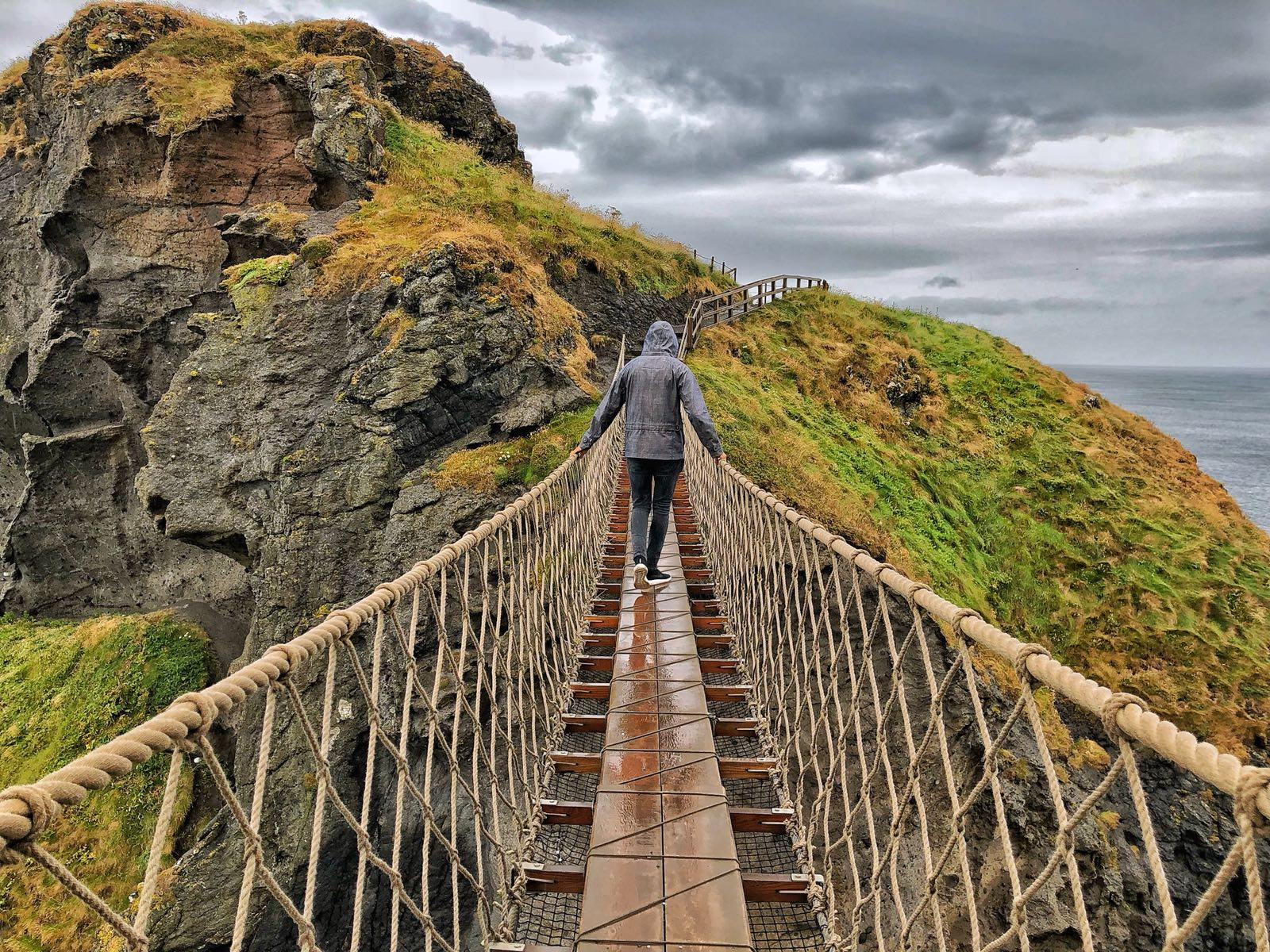 The Crossing of Carrick-a-Rede Bridge