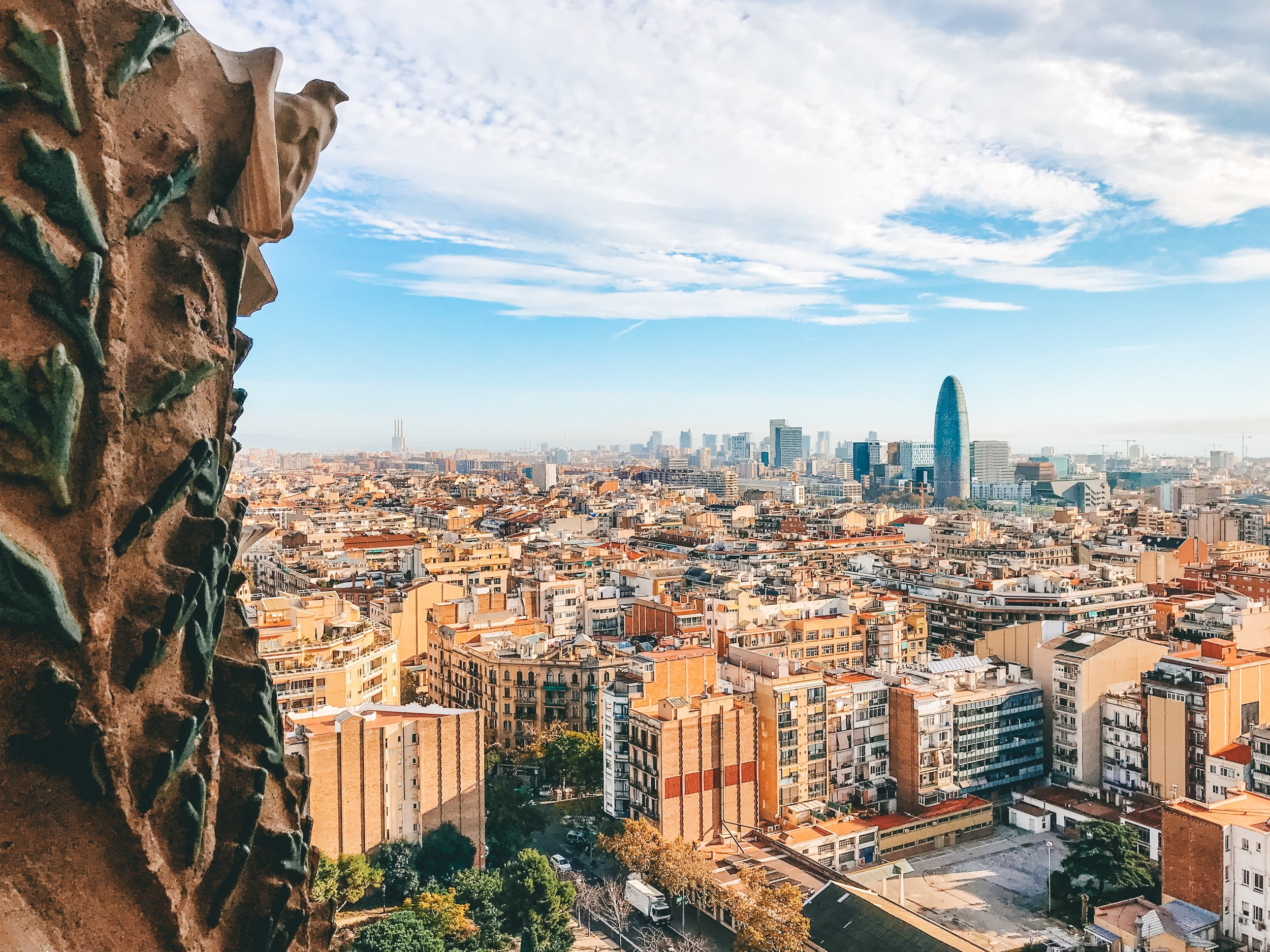 View from Sagrada Familia - Nativity Tower
