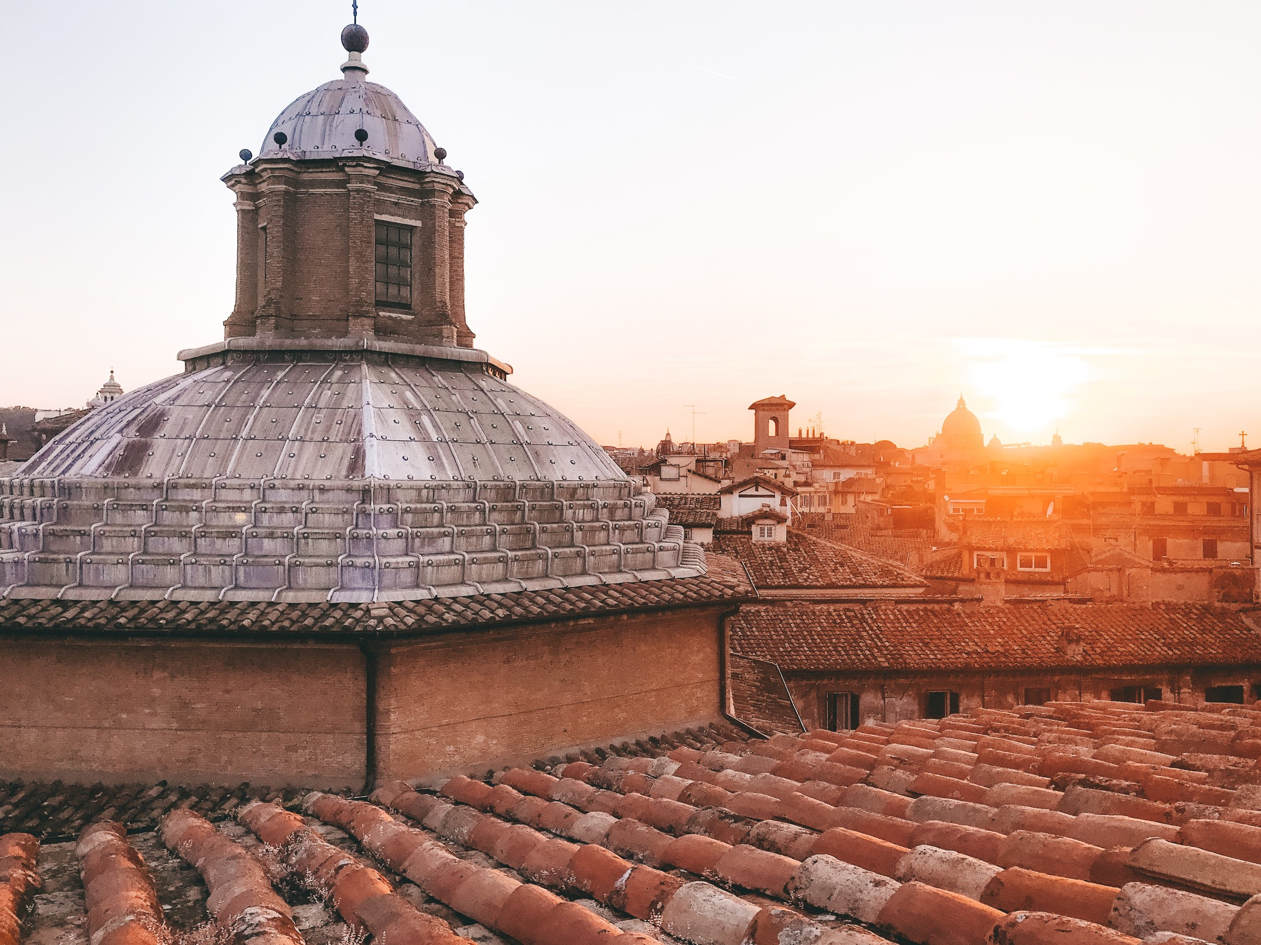 Rooftop aperetivo at Hotel Raphael - Rome, Italy