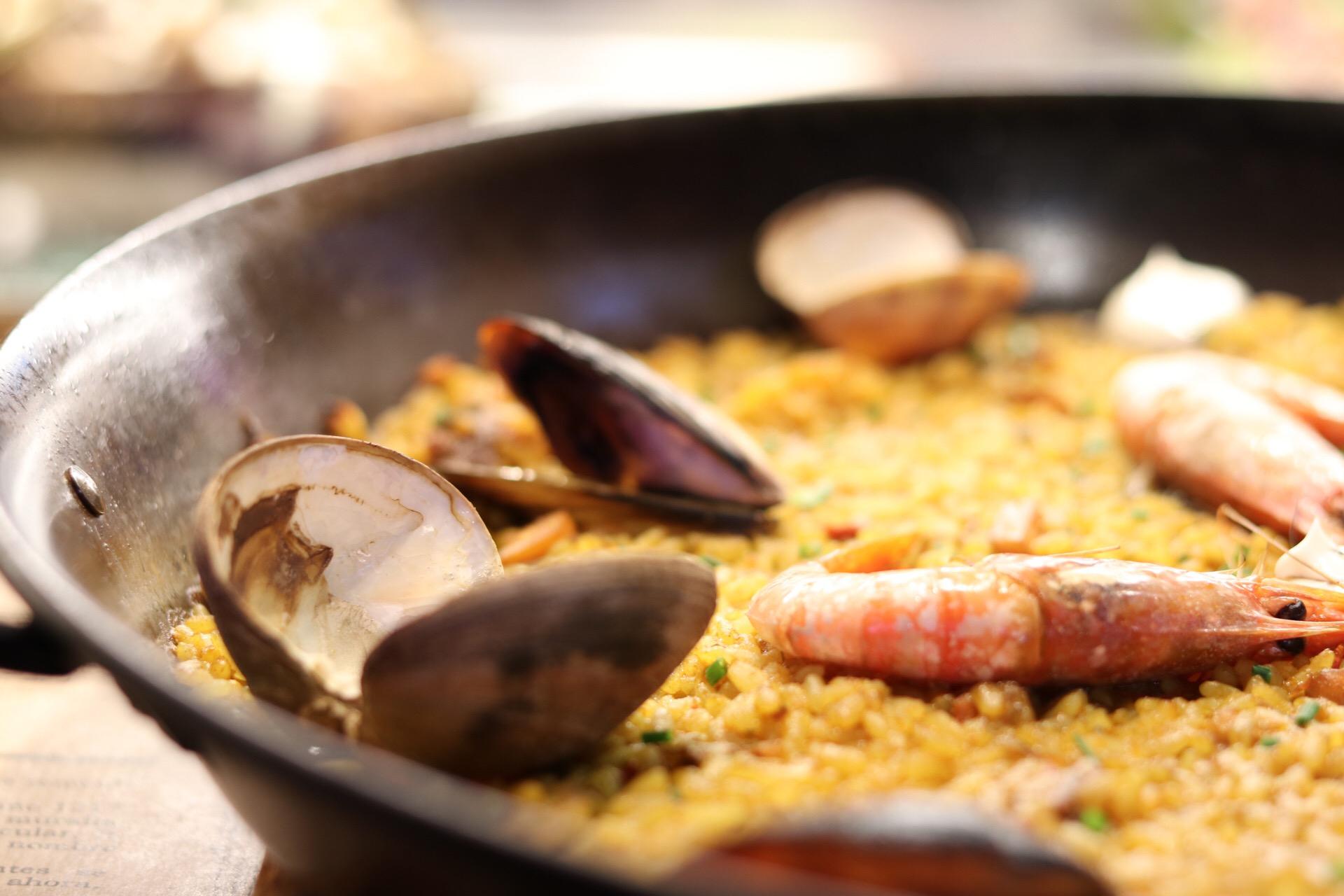 Paella at La Boqueria