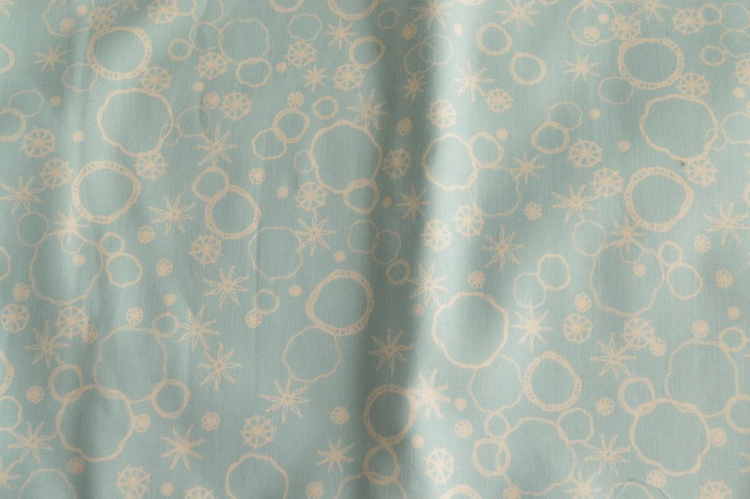 Blue soap bubbles