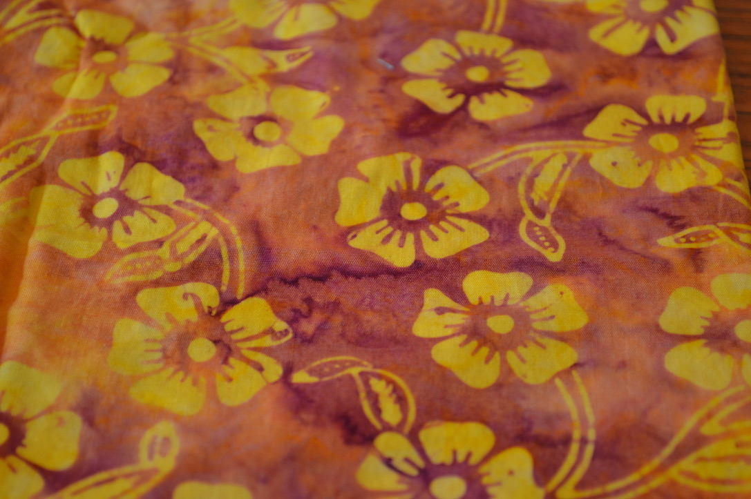 Yellow and Orange Batik Flowers