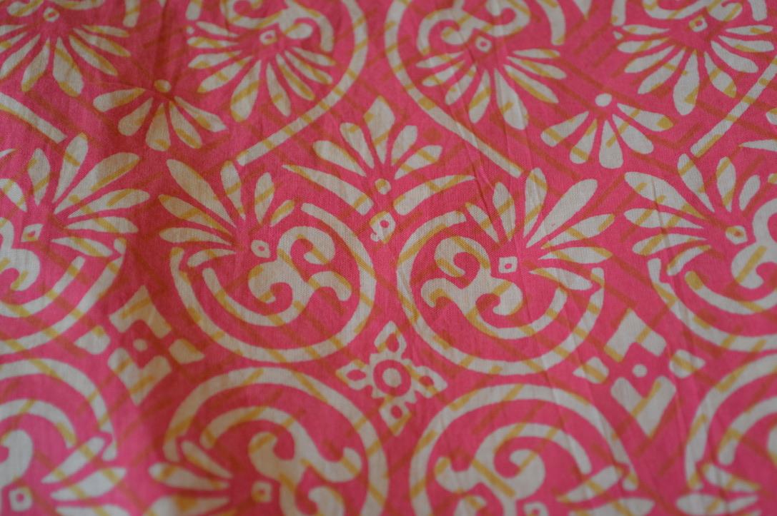 Pink and White Batik