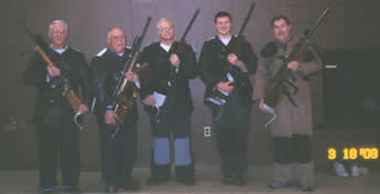CASL Rifle Team: Jim Dooley, Carl Bliesener, Don Knisely (Captain), Ian Hall, George Lammers (Rifle Director) Missing from Picture: Rob Carr, David Cotter, Randy Hall (Co-Captain), Evan Hall and Scott Lauderbaugh