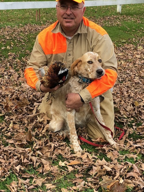 Annie - Annie's first bird! We couldn't be any happier with her, so thank you so much!Paul and Terry, Vermont -October 2018Honey/ Timber 12.29.17