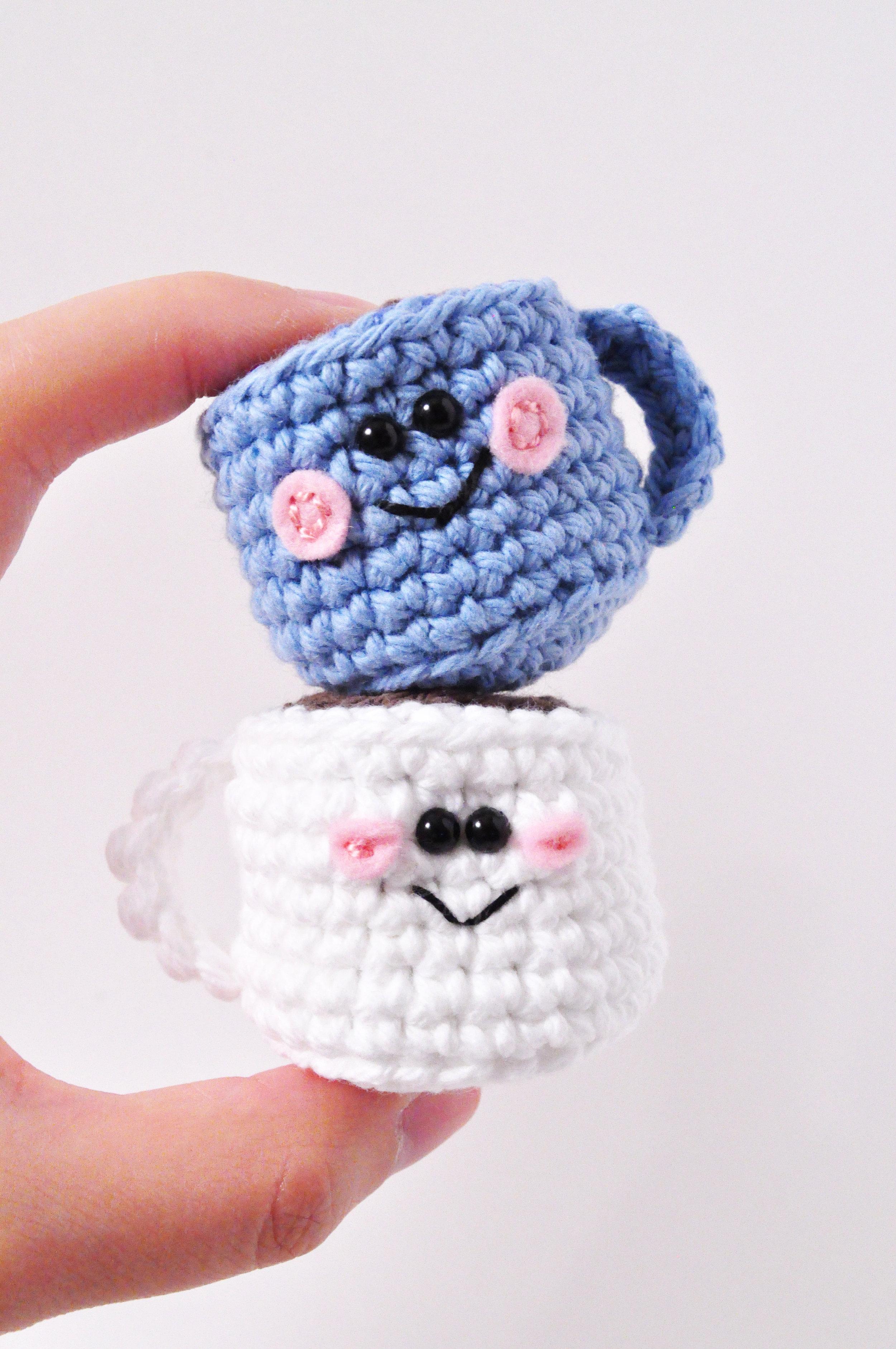 mini crochet  coffee mug pattern